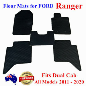 All Weather Rubber FLOOR MATS FOR Ford Ranger PX PX2 PX3 2011 - 2020 Full Black