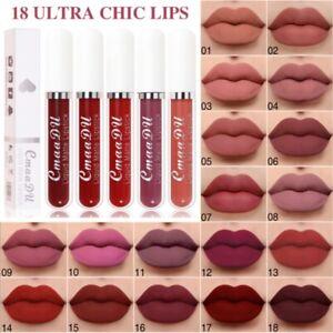 18 Colors Long Lasting waterproof Lipstick velvet Matte Liquid Beauty Make up UK