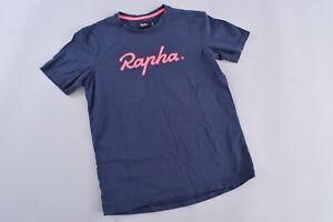 Rapha Logo T-Shirt Men's Small Blue Pink Cycling Road CX