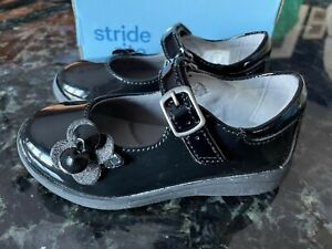 NEW Stride Rite AVA Mary Jane Black Patent Leather Shoes Girls Size 7.5 Medium