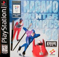 Nagano Winter Olympics 98 Playstation 1 Game PS1 Used Complete