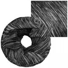 XXL Bufanda Tubo en Negro/Gris de Rayas Pañuelo Bufanda Tubo Pañuelo Mujer