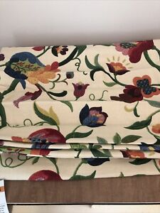 """SMITH & NOBLE Flowered Roman Shade with Bracket 24"""" wide  41"""" long"""