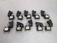 10x BLACK SPST Toggle Switch On/Off High Quality 12V 15A Billet Car truck SUV