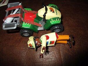 Playmobil-Véhicule tout terrain& personnage&accessoires-thème safari-2004