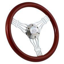"1970 -73 Chevy C-Series Mahogany & Chrome 15"" Banjo Steering Wheel + Boss Kit"