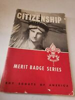 BOY SCOUTS OF AMERICA Merit Badge Series CITIZENSHIP Paperback Book 1958 Print