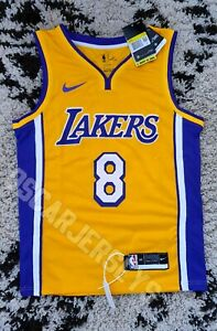 Maillot Shirt NBA Jersey Kobe Bryant LA Lakers #8 Nike Swingman ICON Yellow KB