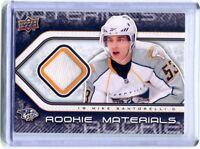 2009-10 UD Rookie Materials #RM-MS Mike Santorelli Predators Jersey Card jh11
