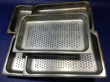 Lot Of 5 Perforated Stainless Steel Full Size 25 Deep Steam Table Pans