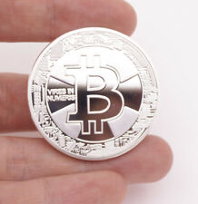 TH Bitcoin Physical Collectible Coin Silver Plated 1 Ounce 40mm IN CASE 2018