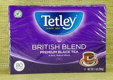 New, Tetley British Blend, Premium Black Tea, 80 Round Tea Bags
