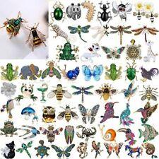 Wholesale Crystal Pearl Animal Brooch Pin Butterfly Bee Bird Women Jewellery Hot