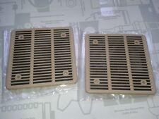 2 neue Abdeckungen / Blenden f. Lautsprecher Hutablage W201 190er creme beige