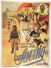 Saving Original Vintage Bicycle Poster - Cycling - Auzolle