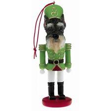 Schnauzer Cropped ~ Nutcracker Dog Soldier Ornament #34