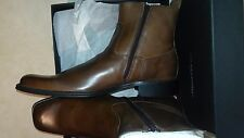 "Kenneth Cole New York Men's Boots- ""Microwave"" - Cognac Sz 10.5"