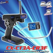 CopterX CT3A 3CH 2.4GHz LCD Remote control Transmitter Receiver for RC car Boat