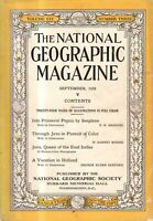1929 National Geographic September - By Seaplane to Papua; Java; Holland