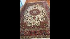 Persian Tabriz Rug Hand Woven Wool & Silk Combination