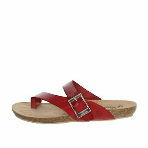 Sandalo Donna Yokono Pelle Rosso IBIZA-013