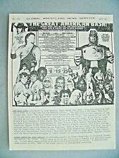 GLOBAL WRESTLING NEWS SERVICE #120 9/85 100'S RESULTS-NEWS ADS! NOSTALGIA! 8 PGS