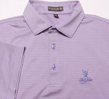 PETER MILLAR Summer Comfort Polo Shirt Lake Nona CC Orlando Purple Medium M