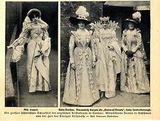 Lady Denison, Viscounteß Curzon, Lady Londesborough in histor.Kostümen c.1912