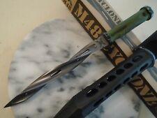 M48 Cyclone OD Green Battle Scarred Combat Tri Dagger Knife Spike UC3340 2Cr13