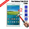 2x 100% Genuine Tempered Glass Screen Protector For Samsung Tab S 8.4 T700 T705