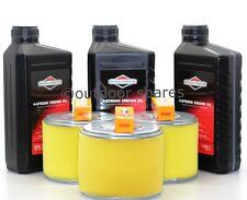 3x Honda Air Filter & NGK Plug Service Kit & 3 Ltrs Briggs Oil For GX340 & GX390