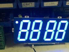 "4"" Ultra Bright Blue 470nm LED 4 Digit Seven Segment Display"