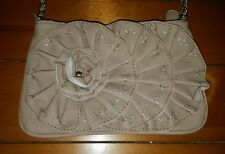 LADIES pink floral TARGET leather look handbag LOVELY CHAIN STRAP!