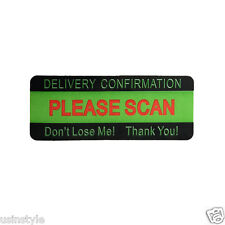 180 Labels Green PLEASE SCAN DON'T LOSE ME Reminder USPS Mailing Stickers New