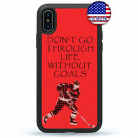 New For iPhone 8 7 6 Plus X Xs Max XR 5 4 Ice Hockey Quote Case Cover