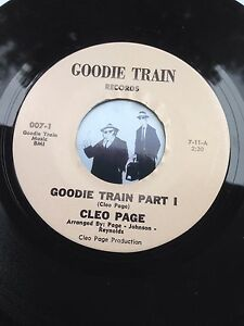 7'' Cleo Page Goodie Train Part 1 On Goodie Train In Ex (Stomping Blues Killer)