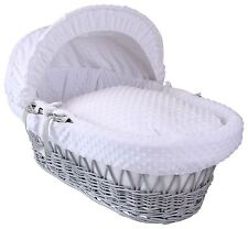 Baby Toddler Basket White Waffle On Wicker Pod With Dove Rocking Stand