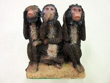 New 3 Evil Monkey Figurine 3 Monkies See No Evil Hear No Evil Speak No Evil