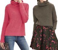 NWT Banana Republic Mixed Stitch Turtleneck Italian Yarn Sweater Size XS