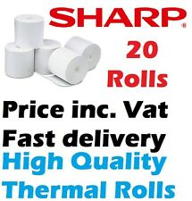 Sharp XE-A212 XEA212 Cash register Paper 20 Paper Thermal Rolls Price inc. Vat