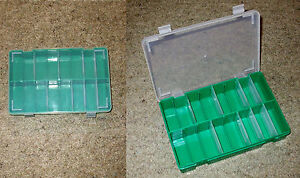 Storage Box,10 Compartment, Stacking, for Beads, Screws, Fuses etc x 1      KB02