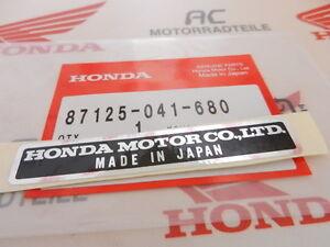 "Honda Z 50 A K Monkey Sticker Frame Plate Name "" Made IN Japan """