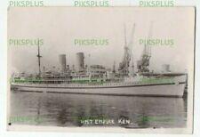 More details for ocean liner postcard h.m.t. empire ken troopship real photo vintage 1940s