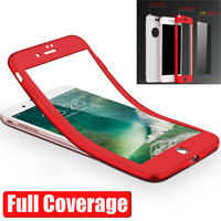 360° FullBody Silicone+PC Temper Glass Bag Case Armor Cover for iPhone 7 6s Plus