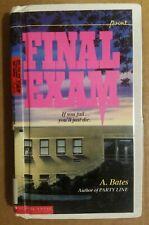 FINAL EXAM By A. Bates - ex library book hardback YA thriller 1990 1st Ed
