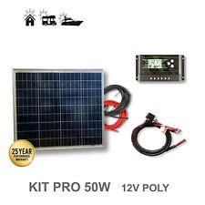 Panel Solar Policristalino KIT 50W 12V Placa Autocaravana Caravana Barco