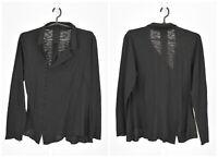 Womens Rundholz Black Cotton Cardigan Jumper Long Sleeve Lagenlook Size M