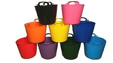 FLEXI TUB, TRUG, BUCKET, FEED, WATER, 5 SIZES, CHOOSE YOUR COLOUR, MADE IN UK