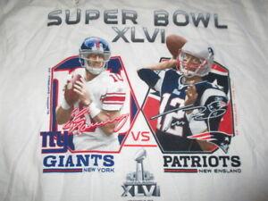 Super Bowl XLVI ELI MANNING vs TOM BRADY (XL) Shirt Hologram GIANTS vs PATRIOTS