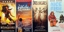 4 LONDON WEST END THEATRE FLYERS BODYGUARD THE KITE RUNNER DREAMGIRLS NICE FISH